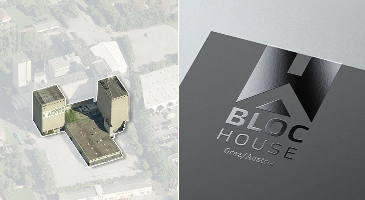 Idee/Konzept Logo Design Bloc-House Graz